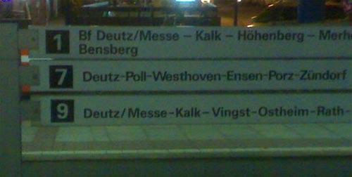 Bahnlinien am Heumarkt Köln