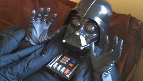 Darth Vader als surprised kitty