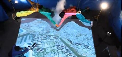 Fallschirmspringen mit Google Earth