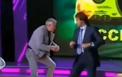 Prügelei in Russland TV