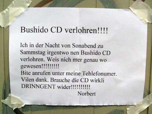 Bushido CD verlohren