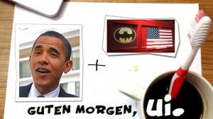 Barack Obama gewinnt die Wahl mit Batmans Hilfe