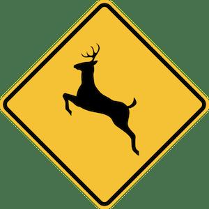 Das Wildwechsel Zeichen in den USA