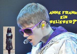 Justin Bieber Anne Frank fail
