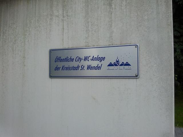 öffentliche Toilettenanlage in St. Wendel