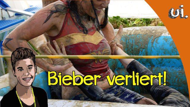 Justin Bieber verliert Ringkampf gegen Frau
