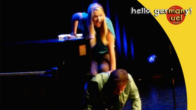 german comedian love on a piano