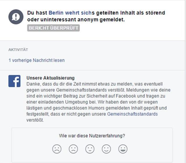 facebook meldung